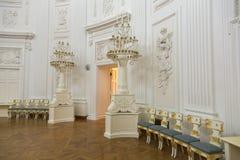 佩特洛夫宫殿的内部,莫斯科,俄罗斯 库存照片