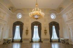 佩特洛夫宫殿的内部,莫斯科,俄罗斯 免版税库存图片