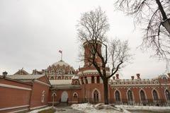 佩特洛夫宫殿的门面,莫斯科,俄罗斯 库存图片