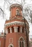 佩特洛夫宫殿的门面,莫斯科,俄罗斯 免版税库存图片
