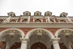 佩特洛夫宫殿的门面,莫斯科,俄罗斯 免版税图库摄影