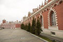 佩特洛夫宫殿的门面,莫斯科,俄罗斯 库存照片