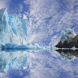 佩里托莫雷诺冰川。 图库摄影