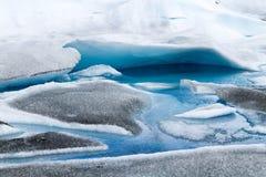 佩里托莫雷诺冰川冰层细节视图 库存图片
