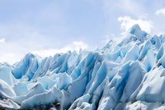 佩里托莫雷诺冰川冰层细节视图 免版税图库摄影