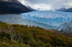 佩里托莫雷诺冰川在Los Glaciares国家公园在埃尔卡拉法特,阿根廷,南美 库存图片