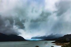 佩里托莫雷诺冰川看法  库存图片