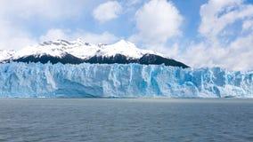 佩里托莫雷诺冰川视图,巴塔哥尼亚风景,阿根廷 免版税库存照片
