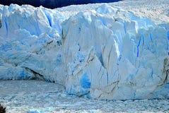 佩里托莫雷诺` s冰川细节  库存图片