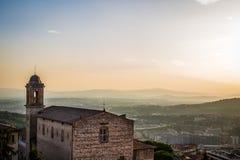 佩鲁贾,意大利看法landcape  图库摄影