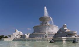 佳丽小岛喷泉 图库摄影