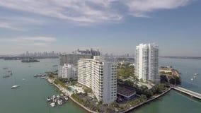 佳丽小岛迈阿密海滩佛罗里达4k空中录影  影视素材