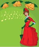 佳丽法语唱歌 图库摄影