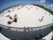 使佛罗里达迈尔斯堡靠岸 免版税库存照片