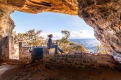 使使变冷的峭壁侧视图陷下英里,旅行旅游业 图库摄影