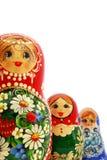 使俄语套入的玩偶 库存照片