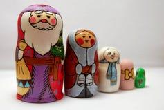 使俄语套入的玩偶 免版税库存图片