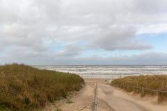 使入口Egmond aan Zee,荷兰靠岸 免版税库存图片