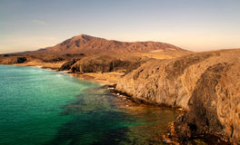 使兰萨罗特岛靠岸 免版税图库摄影