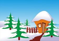 使冬天环境美化 向量例证