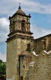 使命圣何塞y圣米格尔火山de Aguayo在圣安东尼奥,得克萨斯 免版税库存图片