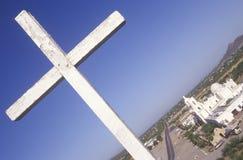 使命圣泽维尔台尔Bac在1783和1897之间被架设了在图森亚利桑那 免版税库存照片