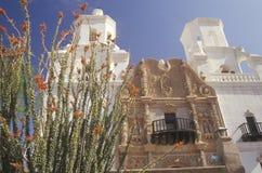使命圣泽维尔台尔Bac在1783和1897之间被架设了在图森亚利桑那 库存图片