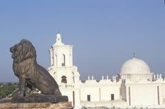 使命圣泽维尔台尔Bac在1783和1897之间被架设了在图森亚利桑那 免版税库存图片