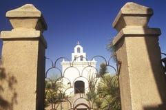 使命圣泽维尔台尔Bac在1783和1897之间被架设了在图森亚利桑那 图库摄影