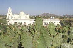 使命圣泽维尔台尔Bac在1783和1897之间被架设了在图森亚利桑那 免版税图库摄影