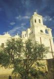 使命圣泽维尔台尔Bac在1783和1897之间被架设了在图森亚利桑那 库存照片