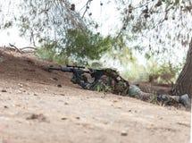使命的狙击手 免版税库存照片