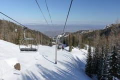 从使命里奇滑雪胜地的东部Wenatchee 免版税库存照片