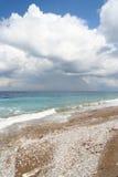 使地中海靠岸 库存照片