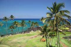 使夏威夷kona靠岸 免版税库存照片