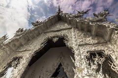 使天堂的门户,清莱,泰国有大理石花纹 库存照片