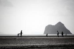 使山朋友风景,全景,透视,场面靠岸 库存图片