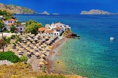 使希腊靠岸 免版税库存图片