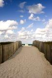 使平安横向的海洋靠岸 免版税库存照片