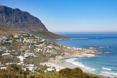 使开普敦半岛山的看法和从兰迪德诺的大西洋环境美化开普敦半岛的,南非 库存图片