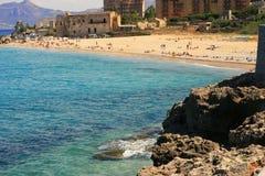 使意大利海运夏天靠岸 免版税图库摄影