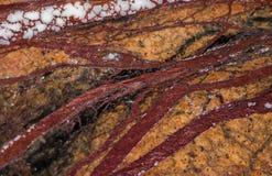 使有大理石花纹在温暖不同的颜色,设置与三十三张照片 免版税库存图片