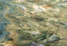 使有大理石花纹的抽象背景 液体大理石金黄样式 五颜六色的大理石背景 库存照片