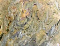 使有大理石花纹的抽象背景 液体大理石金黄样式 五颜六色的大理石背景 免版税库存照片