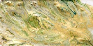 使有大理石花纹的抽象背景 液体大理石金黄样式 五颜六色的大理石背景 免版税图库摄影