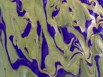 使有大理石花纹的抽象背景 液体大理石金黄样式 五颜六色的大理石背景 免版税库存图片