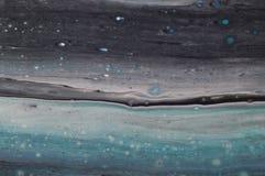 使有大理石花纹的海洋抽象背景 液体丙烯酸酯的大理石样式 库存照片
