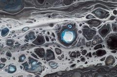 使有大理石花纹的海洋抽象背景 液体丙烯酸酯的大理石样式 图库摄影