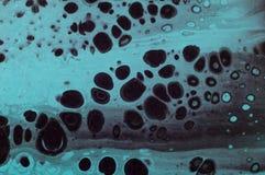 使有大理石花纹的海洋抽象背景 液体丙烯酸酯的大理石样式 免版税图库摄影