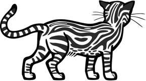 使有大理石花纹的虎斑猫 皇族释放例证